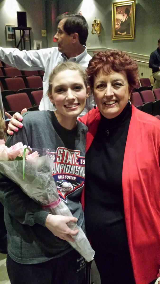 "Kelly Collins after Derryfield School's production of  ""Phantom of the Opera"" – Kelly sang the role of Christine"