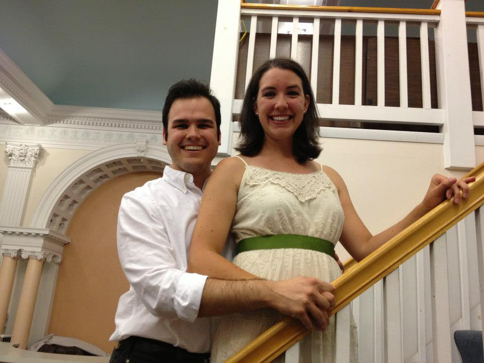 """By Bernstein"" –Joel Iwaskiewicz and Laura Prior (Iwaskiewicz) as Tony and Maria in ""West Side Story"""