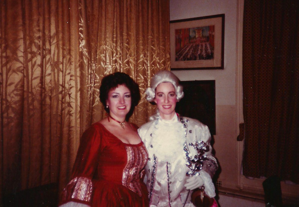 Liederkranz Studio Opera, Der Rosenkavalier, New York City, 1986 – Janice as Annina, Angela Brown as Octavian
