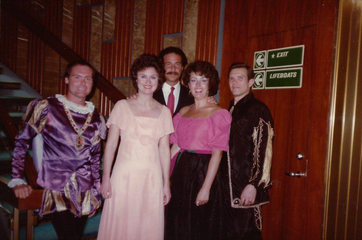 Norwegian American Vistafjord, Rigoletto, 1983 – Michael Handy as The Duke, Jeanette Jung as Gilda, Daniel Ragone, pianist, Janice as Maddalena, George Maldonado as Rigoletto