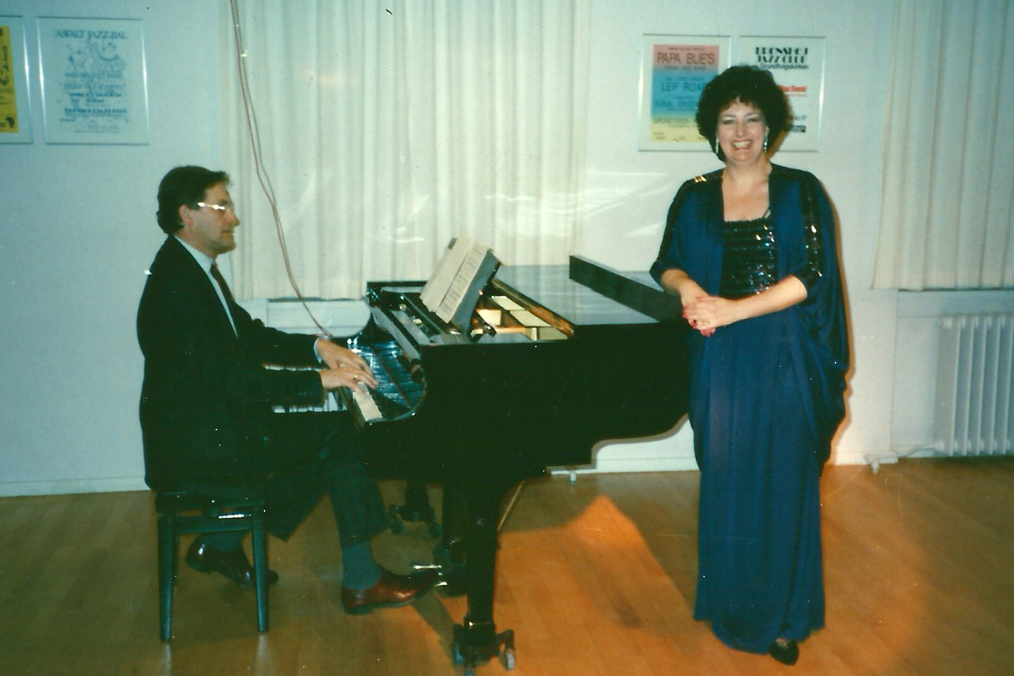 Janice's first professional European concert in Copenhagen, Denmark, 1990, with Friedrich Gürtler, pianist