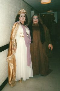 Janice Edwards as Fricka with Cindy Sadler ad Erda