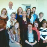 Janice Edwards with some of her voice students
