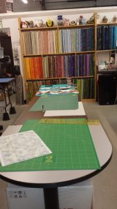 Quilting room at Patches Quilt Shop