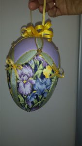 Purple egg Easter decoration