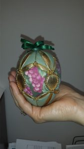 Green egg Easter decoration