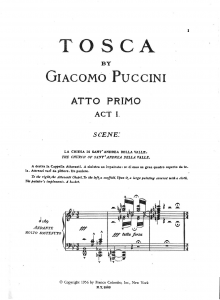 Tosca score, page 1 - for opera blog