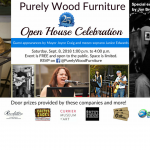 Purely Wood Furniture Open House Graphic