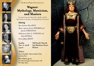 Wagner, Mythology, Mysticism, and Masters with Full Fricka Drag