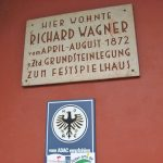 …and the plaque commemorating Wagner's stay there in 1867, 4 years before the theatre opened.