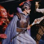 Some photos of what traditional Ring costumes look like – me as Fricka, Edward Crafts as Wotan, Gary Rideout as Loge and Malcolm Rivers as Alberich – from the Arizona Opera Ring cycle, c. 1998.