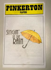 Pinkerton Singin' in the Rain Program Cover