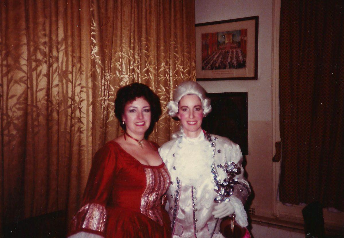 Liederkranz Studio Opera, Der Rosenkavalier, New York City, 1986 – Janice as Annina, Angela Brown as Octavian