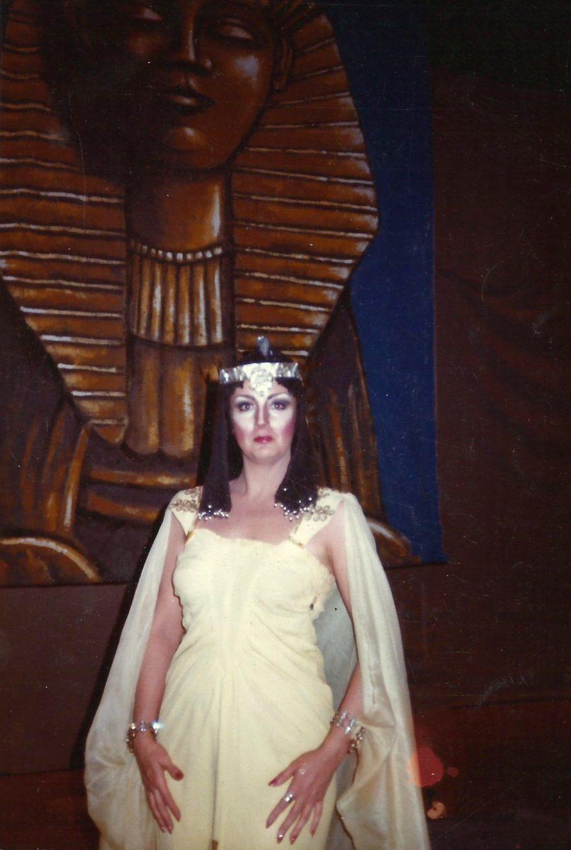 Amato Opera, Aida, 1980 – Janice as Amneris (Act 2)