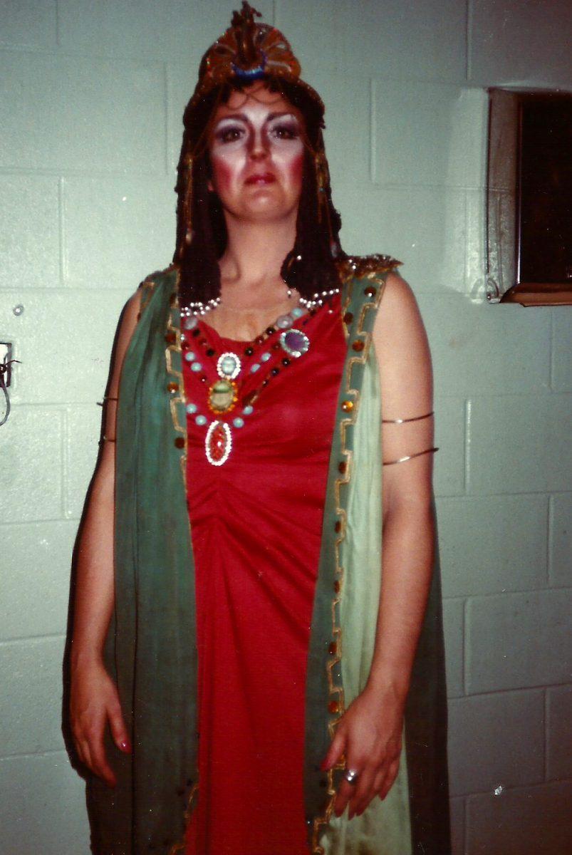 Amato Opera, Aida, 1980 – Janice as Amneris (Act 1)