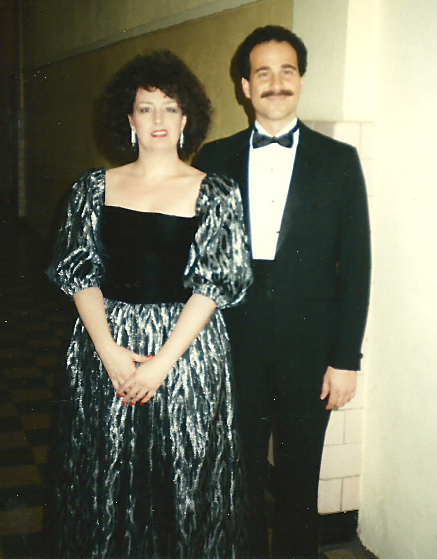 Janice with her beloved friend and vocal coach Daniel Ragone after one of many recitals during the 1980s and 1990s
