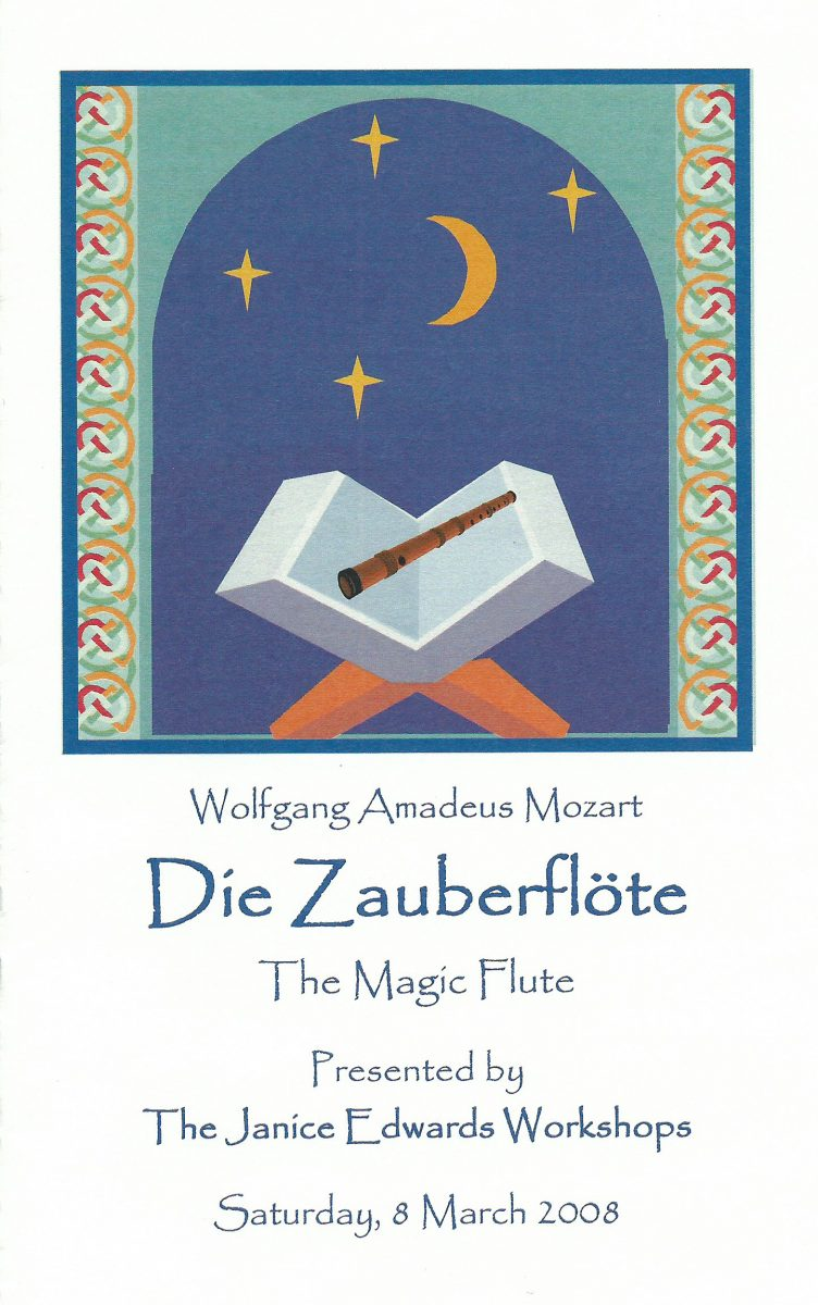 """The Magic Flute"" Program Cover - A Janice Edwards Studio Production"