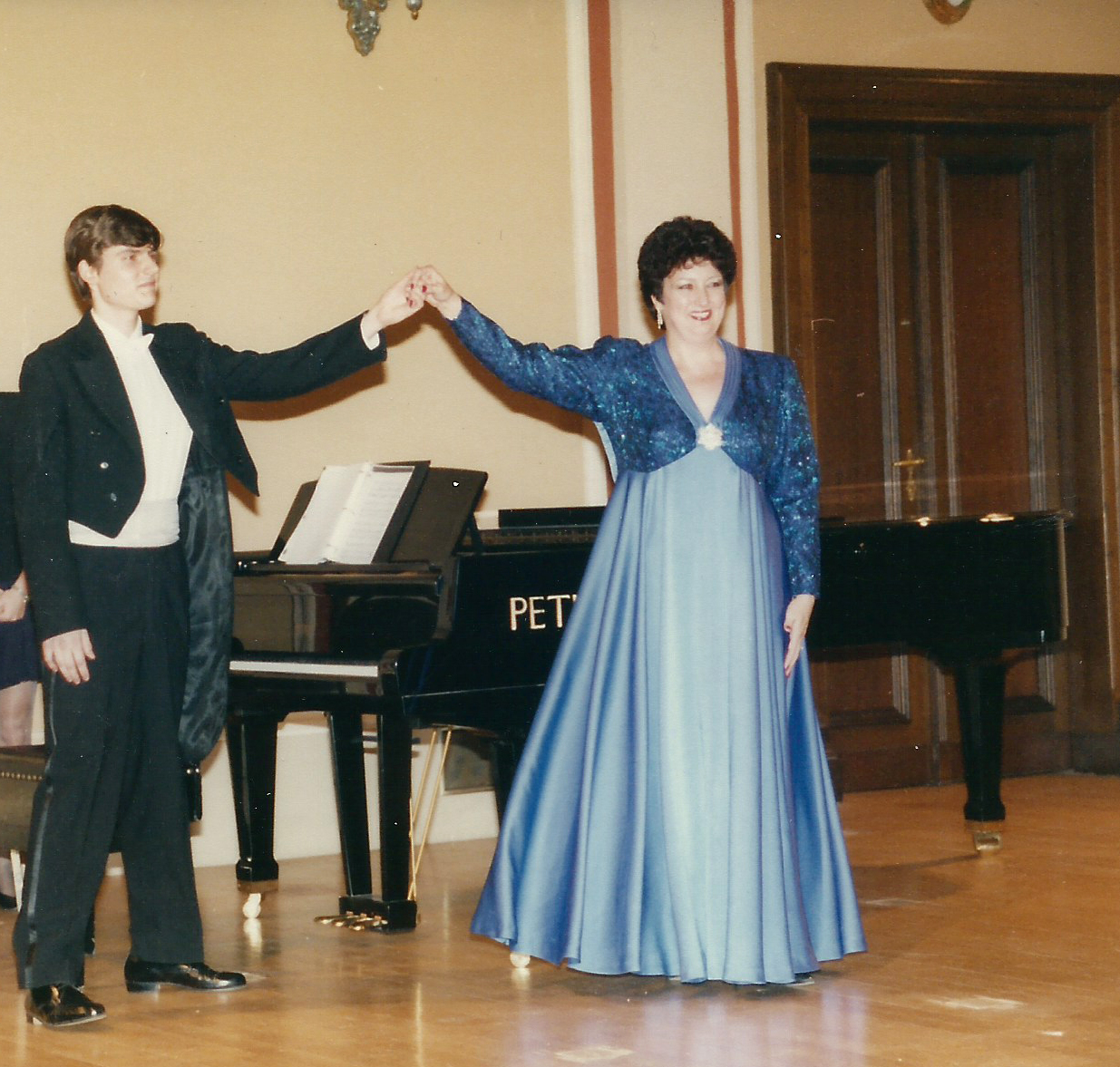 Hudebni večer (Musical Evening), Rudofinum Concert Hall, 1995 – Janice with Michael Keprt, pianist