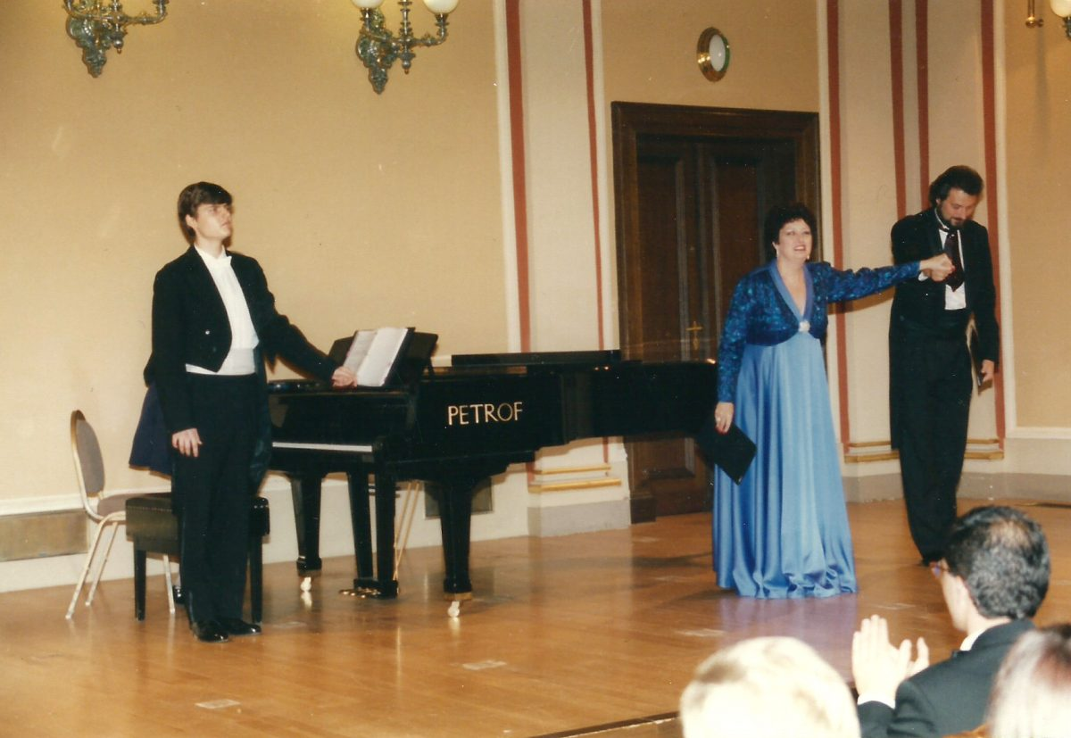 Hudebni večer (Musical Evening), Rudofinum Concert Hall, 1995 – Janice with Michael Keprt, pianist and Vratislav Křiž, baritone